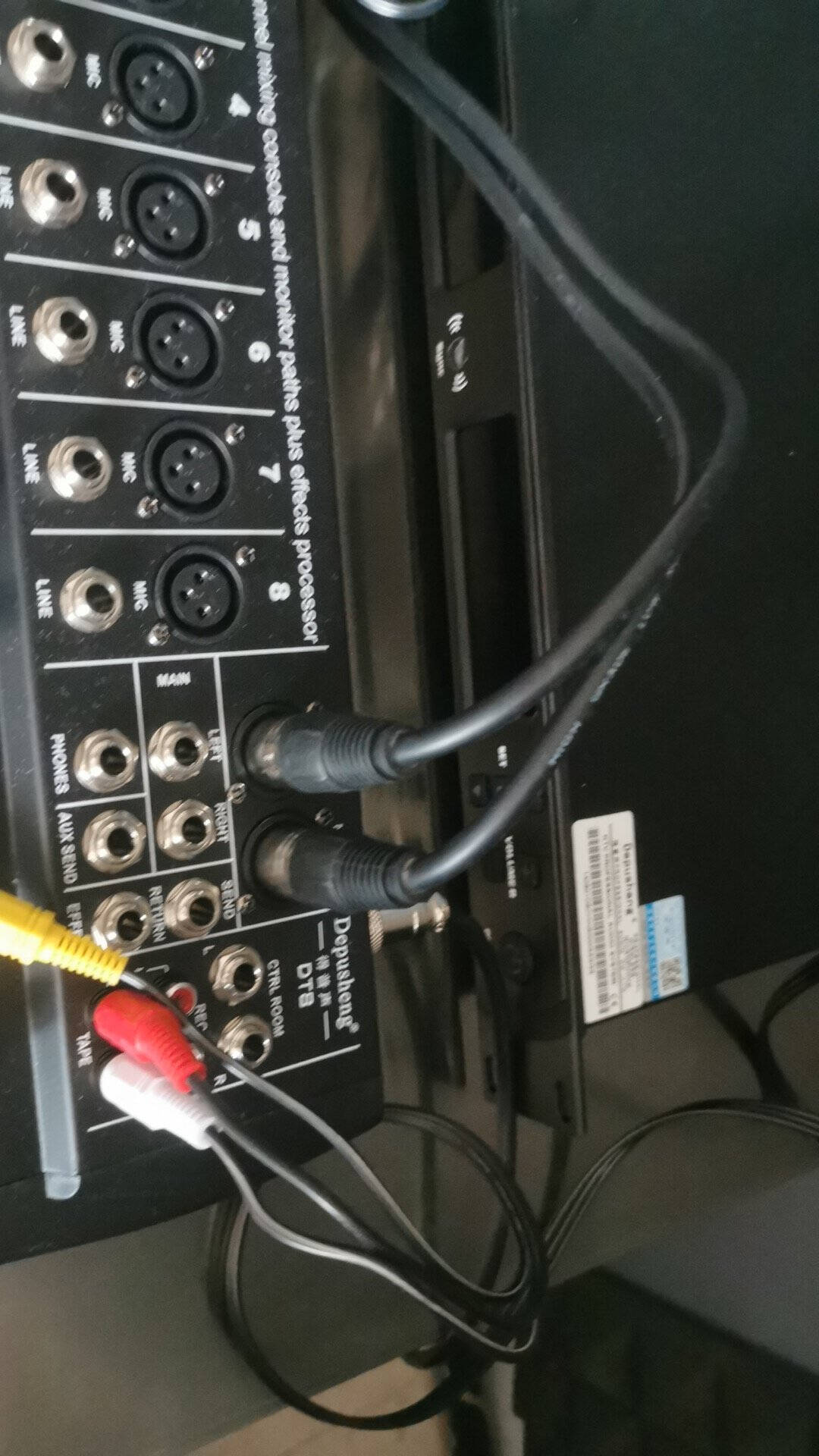 depusheng卡侬线公对母音频延长线莲花RCA麦克风话筒线调音台音响箱功放摄影机平衡卡农线卡农母转莲花1.3米2条