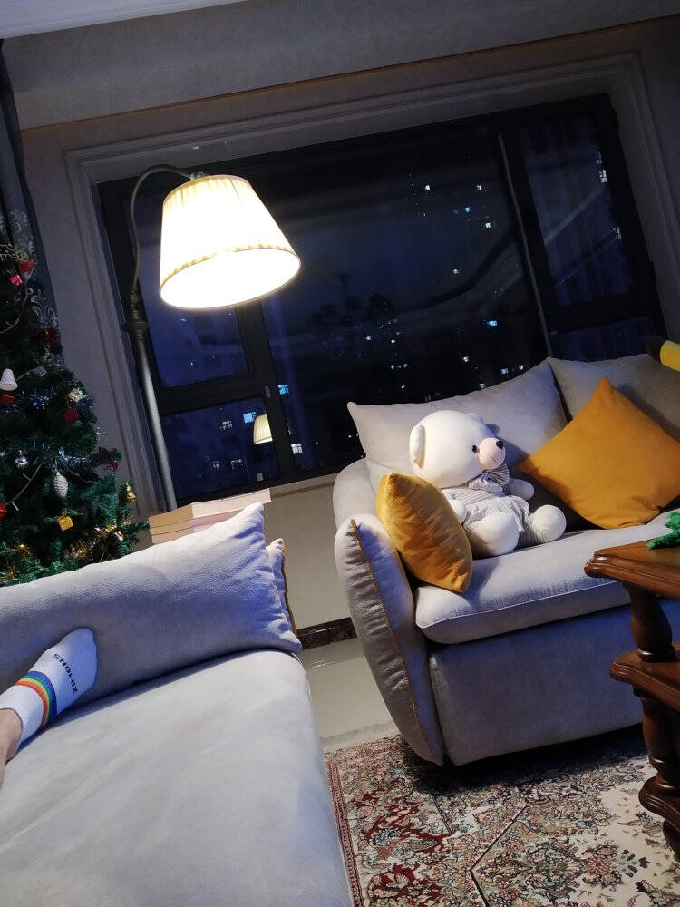 凡丁堡(FANDBO)落地灯客厅卧室阅读立式台灯实木茶几美式现代简约创意钓鱼MWDS415FL砂黑