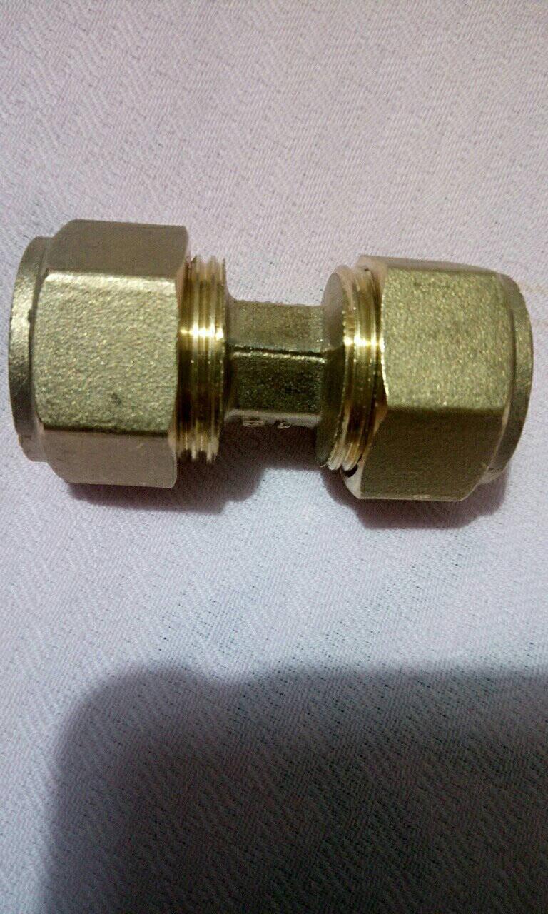 1216太阳能铝塑管接头热水器管4分铜配件内牙外丝等径弯头直接三通管件1216铝塑管堵头