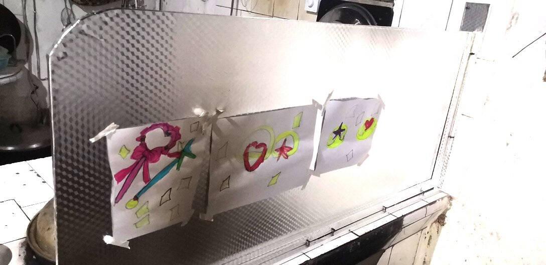 FOOJO厨房贴纸防水防油耐高温铝箔贴膜自粘墙纸墙贴抽屉垫灶台橱柜贴纸0.61*10米方格纹