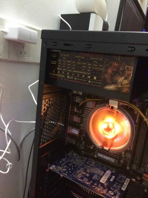 先马(SAMA)破坏神450额定功率300W台式机电脑电源(单显卡接头/单路+12V输出/支持背线/稳定长寿命/台式机电源)