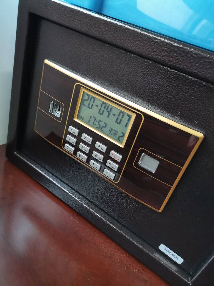 得力(deli)保险柜高80CM指纹+密码双重防盗保管柜家用大型保险保管箱床头柜27320自动开关门+智能呼吸灯