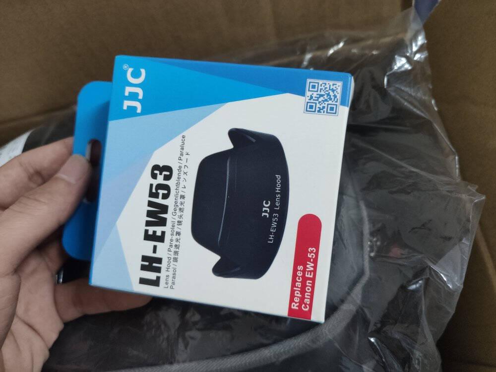JJC适用佳能EF-M15-45遮光罩49mm镜头EOSM200M100M50M6mark2II二代M5M3微单相机配件EW-53