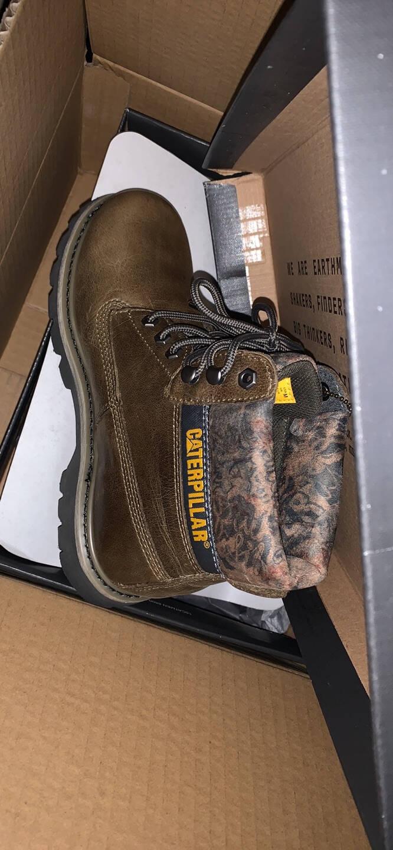 CAT卡特工装鞋马丁靴男鞋男靴做旧复古舒适牛皮户外休闲防滑高帮男士靴鞋子男P717697褐色42