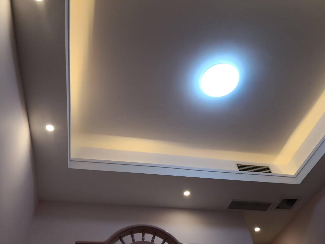 雷士(NVC)WHTD04T-04LED筒灯客厅吊顶天花灯铝材砂银4瓦三色调光开孔80-90mm10只装