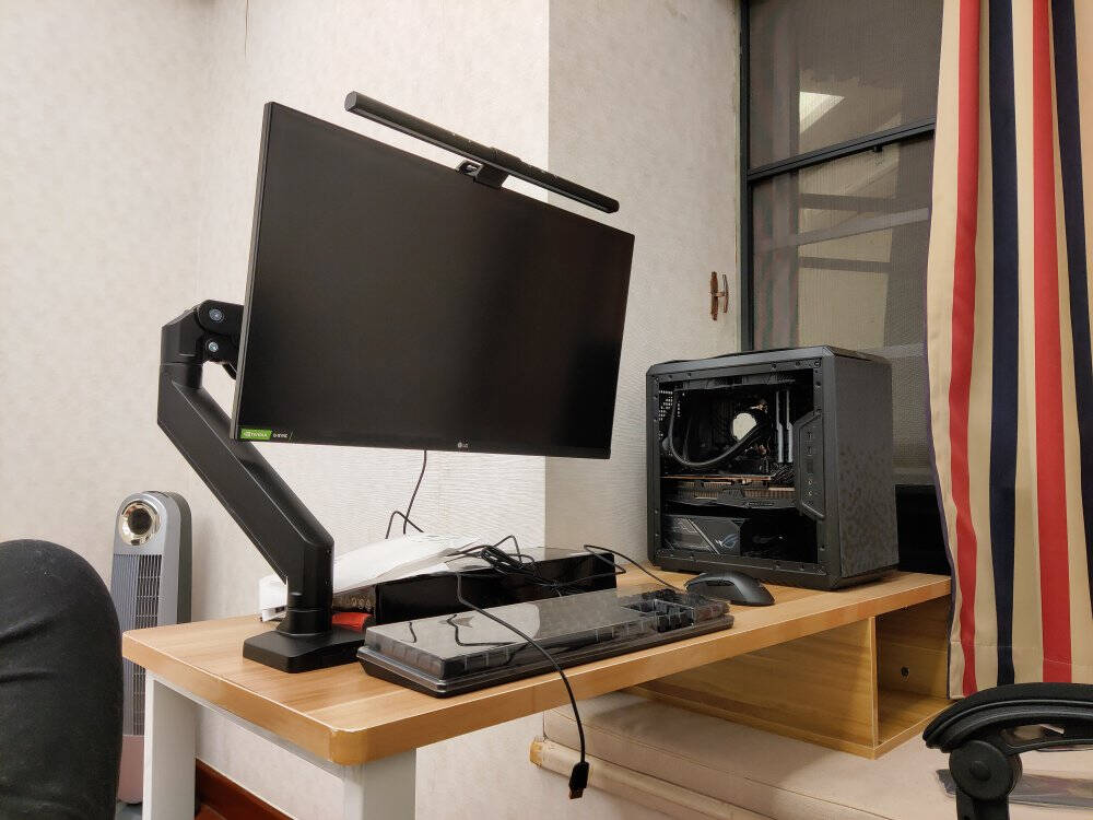 Brateck北弧显示器支架电脑显示器支架臂电脑支架升降vesa支架台式显示屏幕32/34英寸承重15KGLDT23