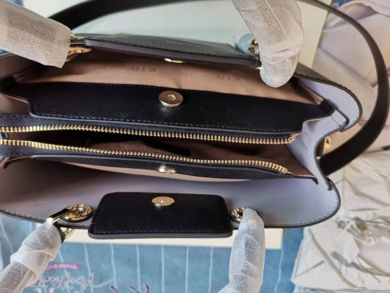 KTD包包女包2020新款时尚简约真皮女包手提包大气宽肩带牛皮斜挎包中年妈妈包酒红色