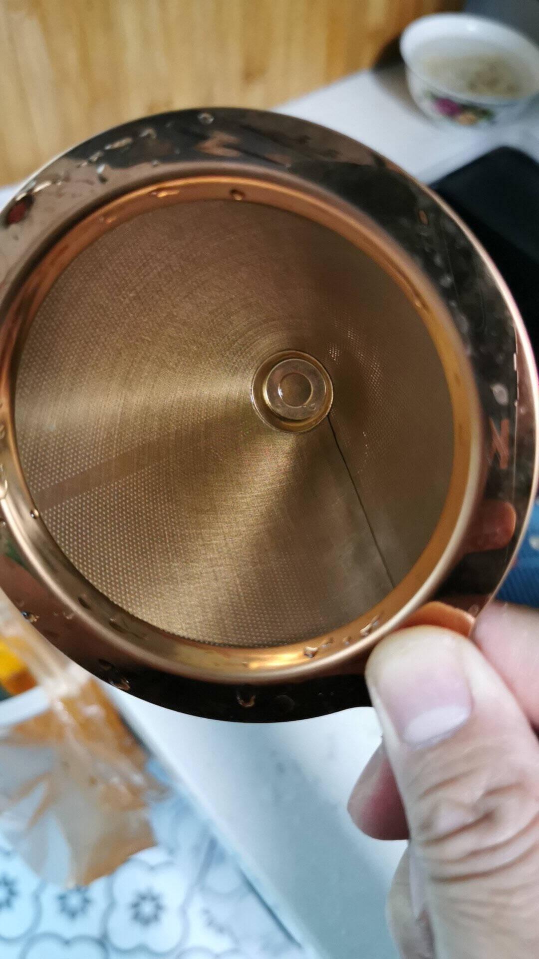 Hero咖啡过滤网手冲壶滤杯双层不锈钢过滤器滴漏式咖啡壶过滤网不锈钢过滤1-2人份不锈钢滤网