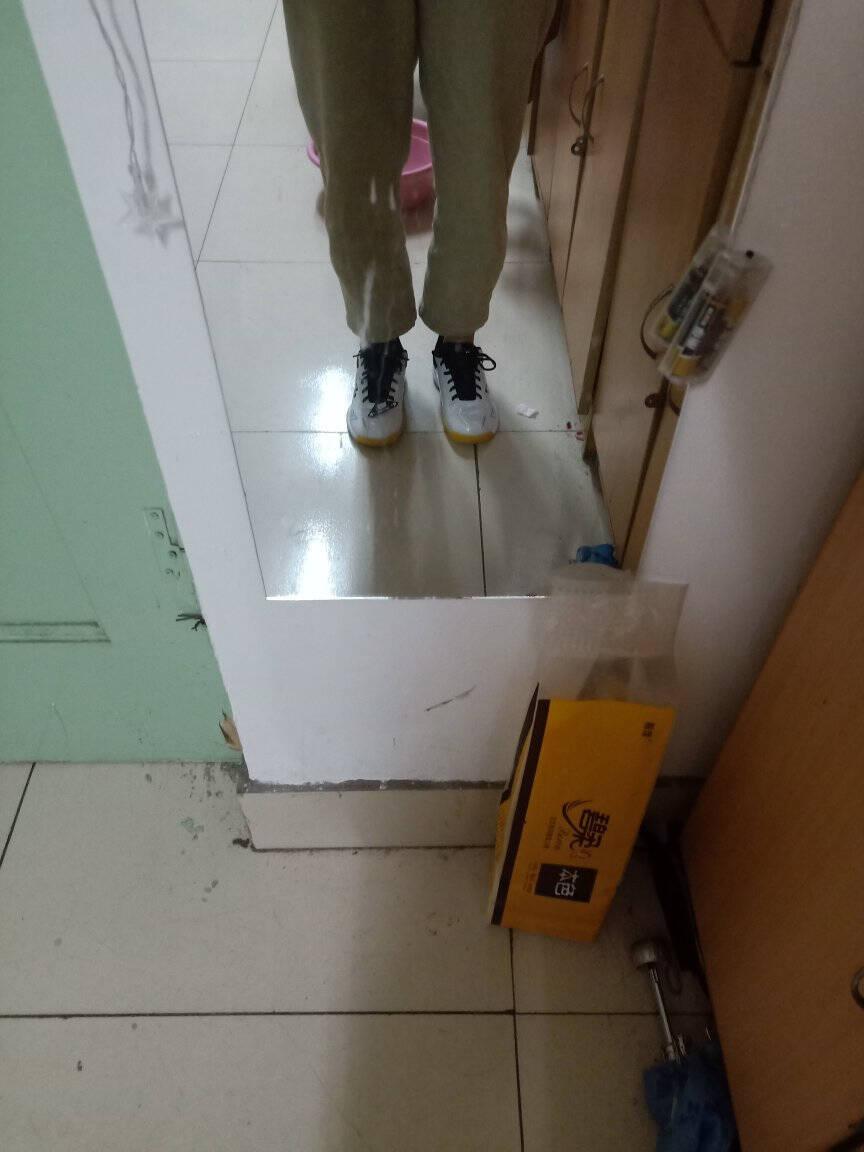 官网yonex尤尼克斯羽毛球鞋男鞋女yy超轻专业透气防滑耐磨训练运动鞋白蓝SHB610W宽楦舒适41码=265mm