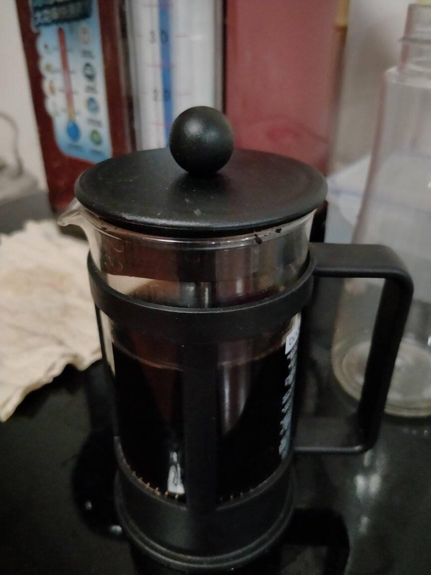 丹麦bodum波顿法压壶欧洲进口玻璃手冲咖啡壶家用便携手动泡茶过滤杯欧式冲茶器滤压茶壶500ml1784-01