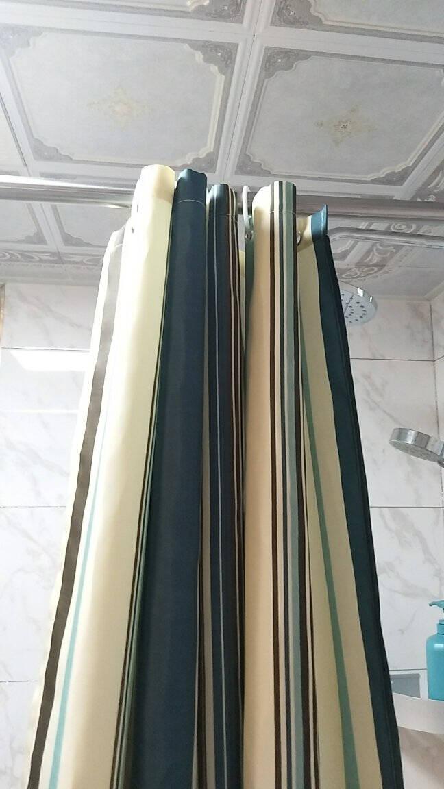 晟旎尚品浴帘杆免打孔不锈钢伸缩杆晾衣杆窗帘杆干湿分离140CM-260CM