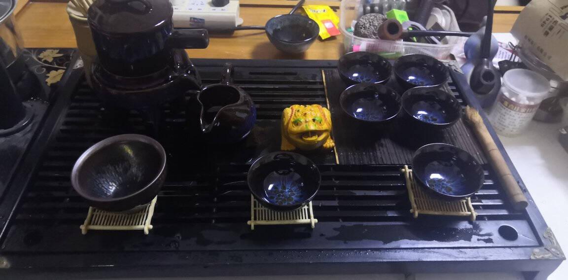 龙寅茶具功夫整套茶具茶杯普洱简约中式茶壶茶具套装窑变钧窑礼盒装