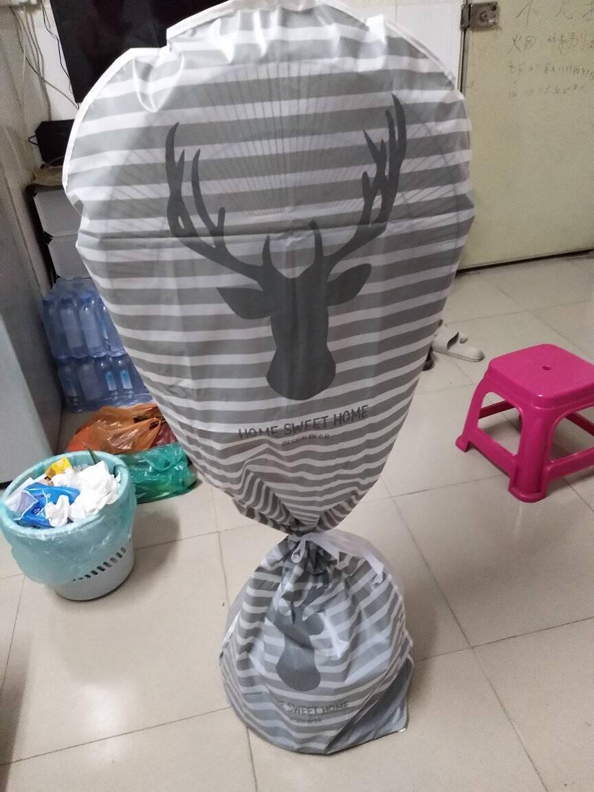 立式全包电风扇防尘罩电扇罩套落地式风扇罩家用风扇套保护套花环【长款】142*55cm