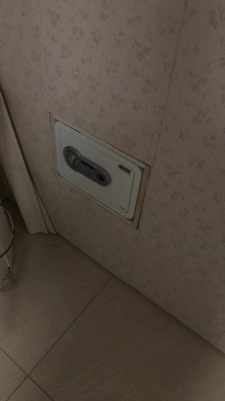 得力(deli)保险柜高25CM小型办公家用保险箱指纹+密码双保险保管箱格调黑27105