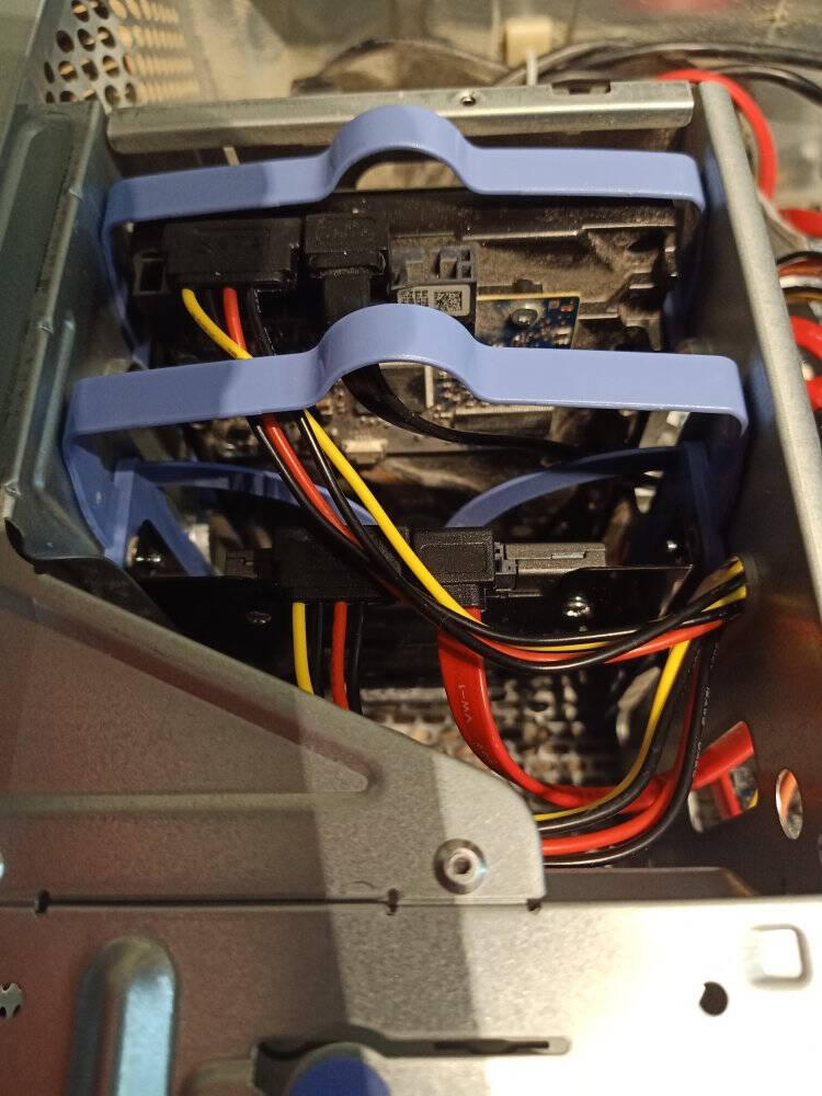 索厉(Suoli)高速SATA3代双通道数据线(弯对直)+SATA串口硬盘电源线SSD固态硬盘连接线安装线套装SL-2S