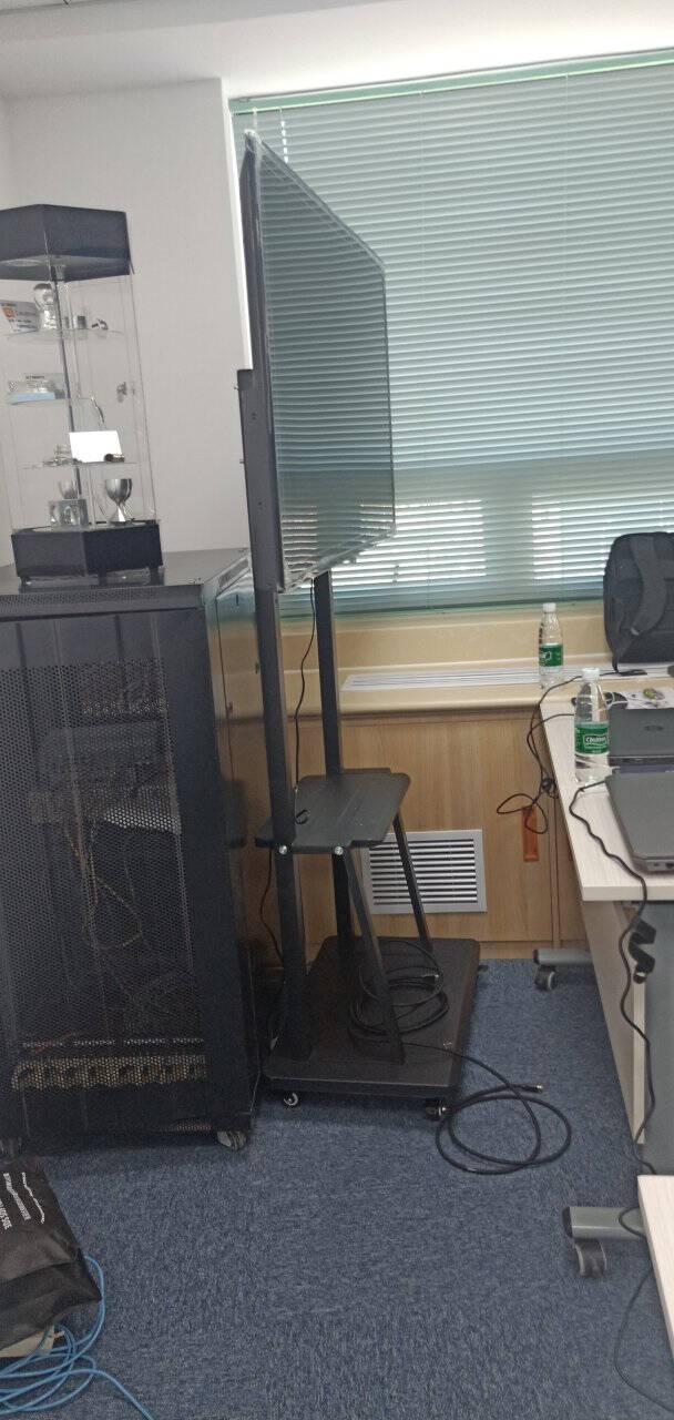 商用电视架(32-110英寸)视频会议移动推车落地电视支架电视挂架教学一体机显示屏电子白板大屏家用【基础加强款】32-75英寸/承重120KG