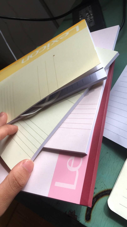 得力(deli)10本A5/60张无线装订软抄本记事本工作笔记本子文具办公用品7653