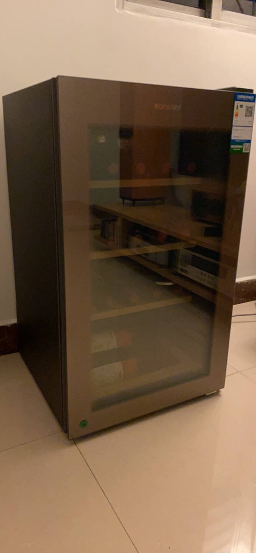 容声(Ronshen)112升红酒柜恒温恒湿冷藏小型饮料柜办公室冰柜玻璃单门雪茄展示JC-112SYD