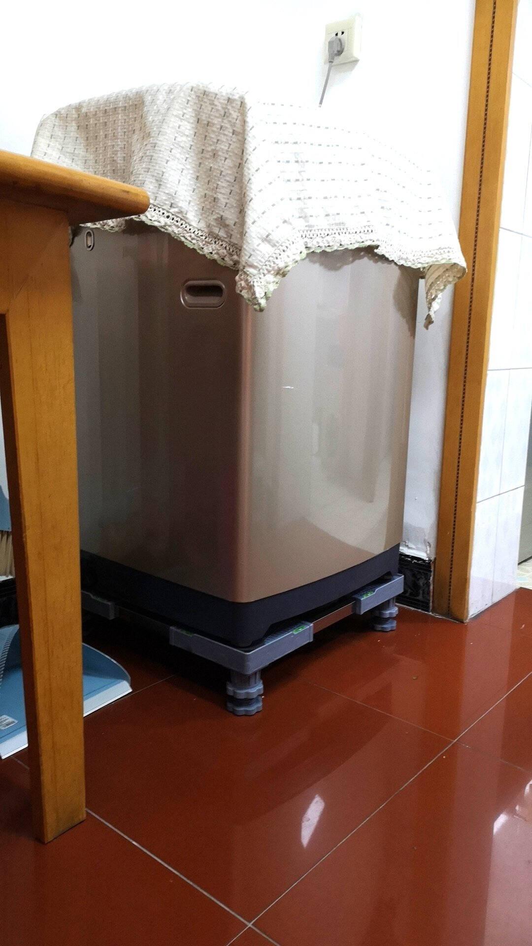 全自动洗衣机底座托架移动万向轮波轮滚筒通用置物架冰箱空调架子小秋家C款固定八脚