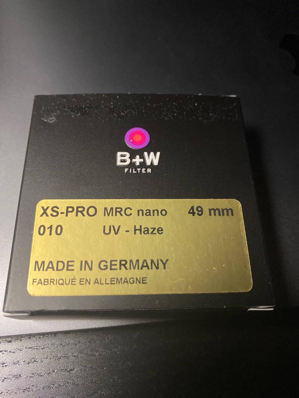 B+Wuv镜滤镜49mmUV镜MRCNANOXS-PRO超薄多层纳米镀膜UV镜保护镜
