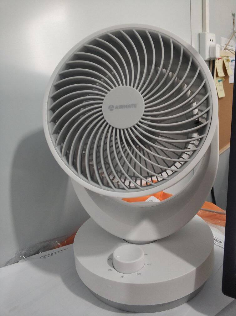 艾美特AIRMATE电风扇/空气循环扇/遥控小风扇广角摇头家用节能低噪螺旋扇叶CA15-R27