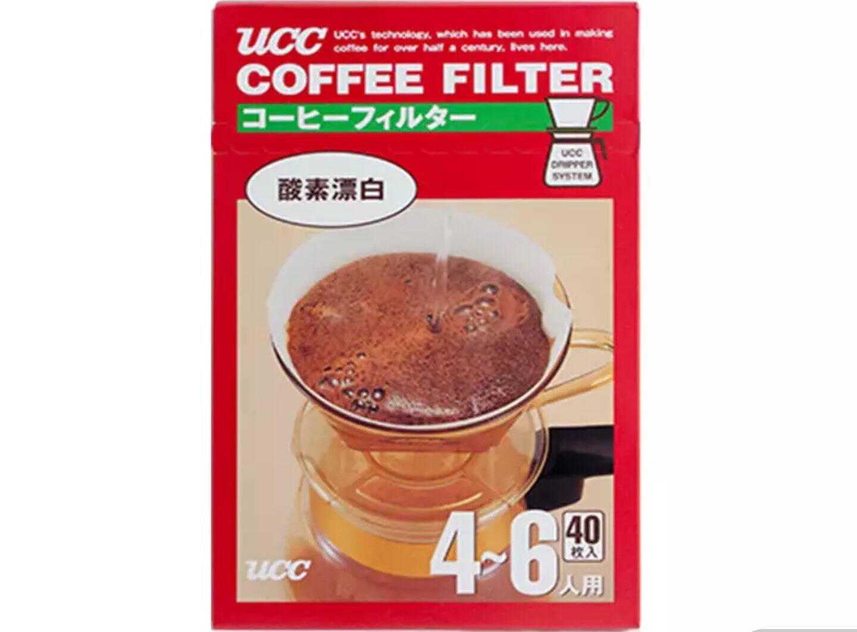 悠诗诗(UCC)咖啡滤纸手冲咖啡过滤纸进口40张/盒2-4人份