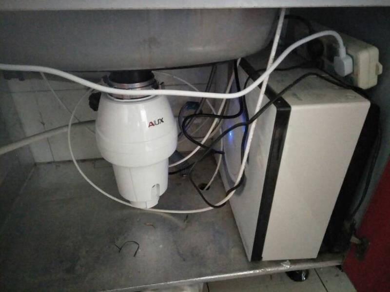 奥克斯(AUX)垃圾处理器厨房厨余粉碎机处理机家用大容量抗菌触控无线开关A2