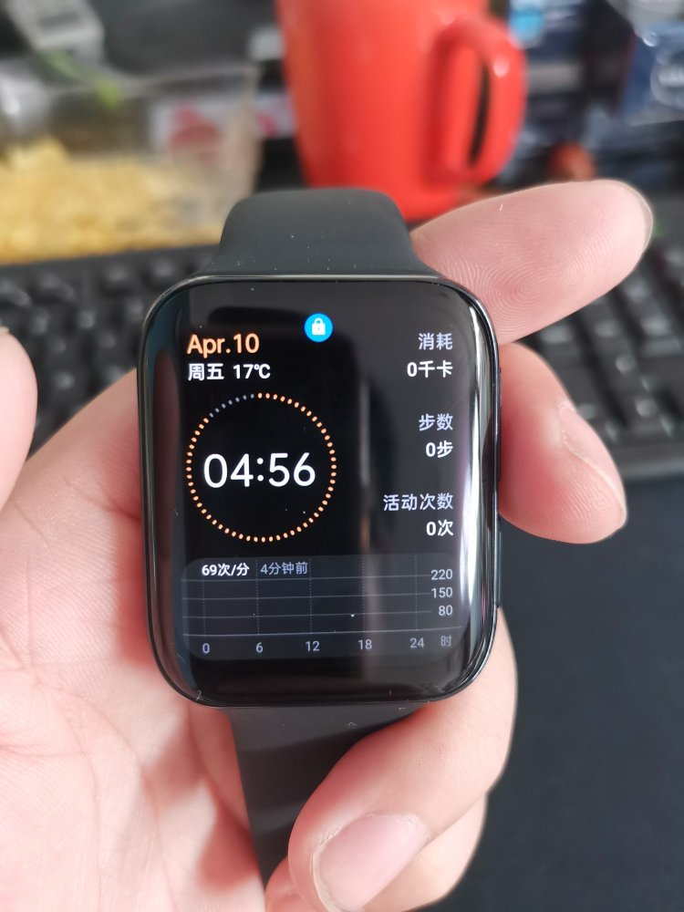 OPPO智能手表,带有 eSIM通信功能
