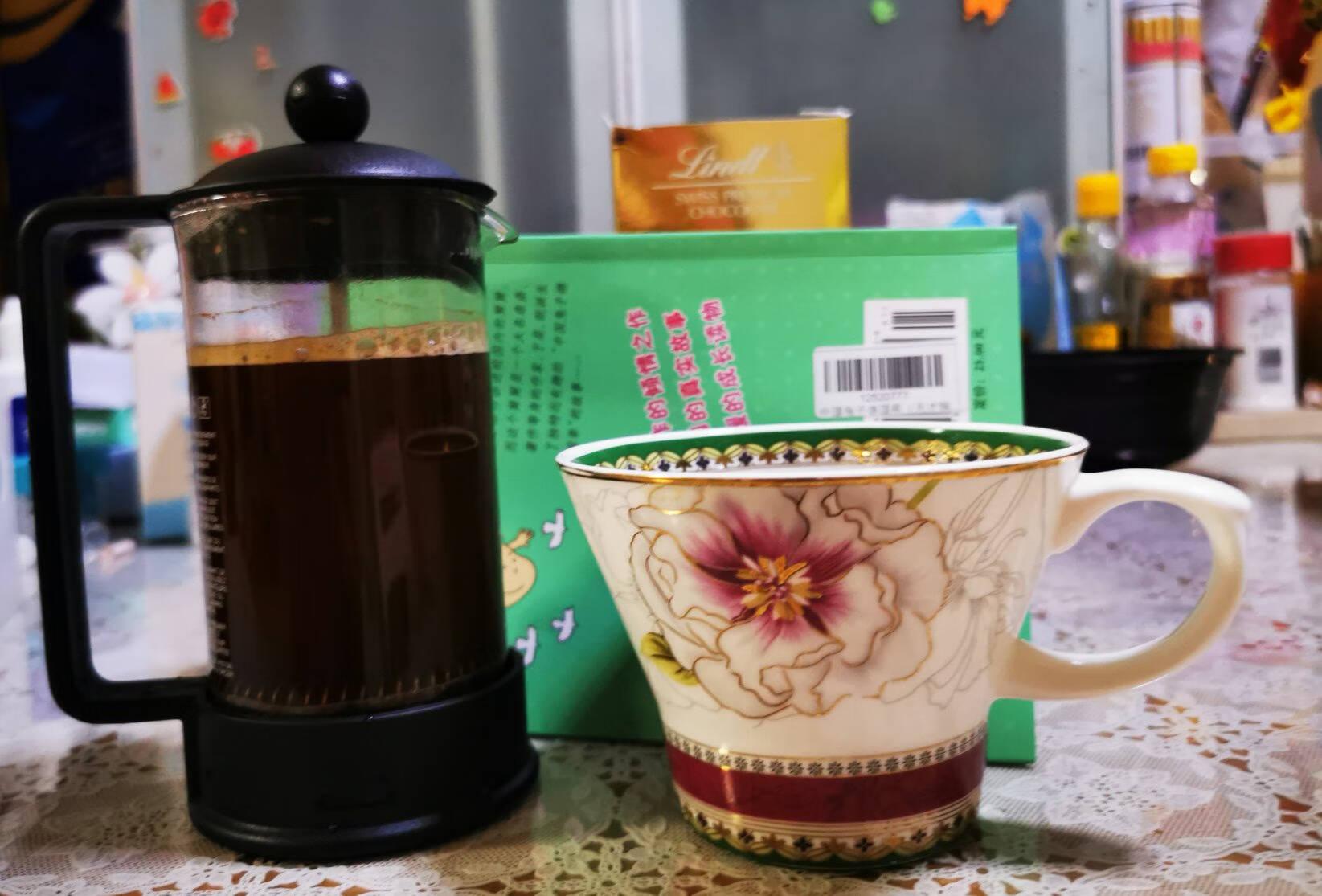 bodum波顿法压壶欧洲原装进口耐热玻璃咖啡壶咖啡杯过滤茶杯滤压小型多功能茶壶350ml黑色10948-01