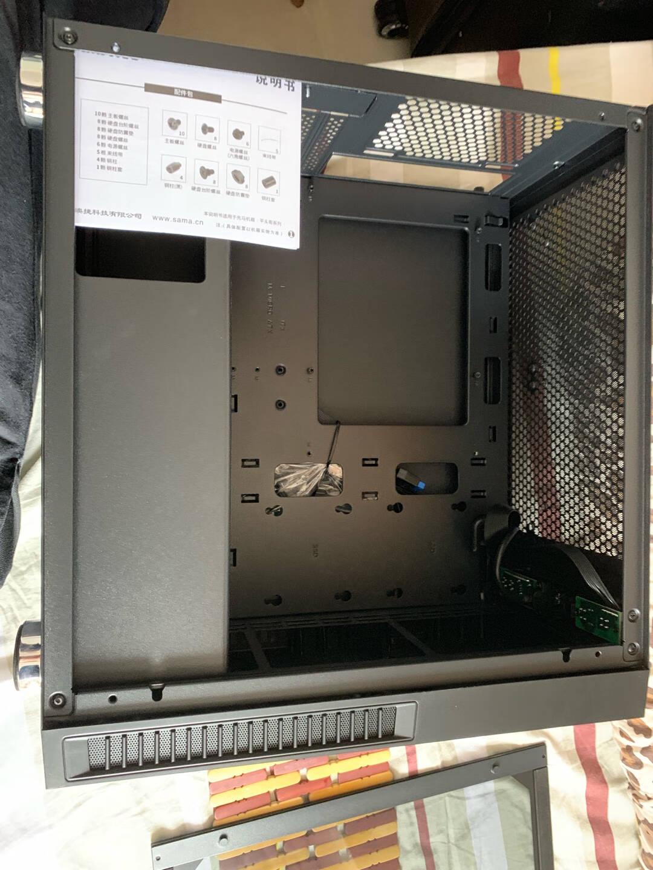先马(SAMA)机箱电源套装平头哥M1电竞版游戏电脑小机箱+金牌500W电源额定功率500W三年质保