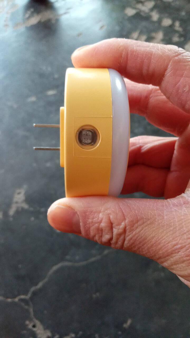 欧普照明(OPPLE)年货LED感应小夜灯床头夜光灯宝宝卧室台灯护眼灯过道走廊【光感款】-鹅黄色款(暖黄光)