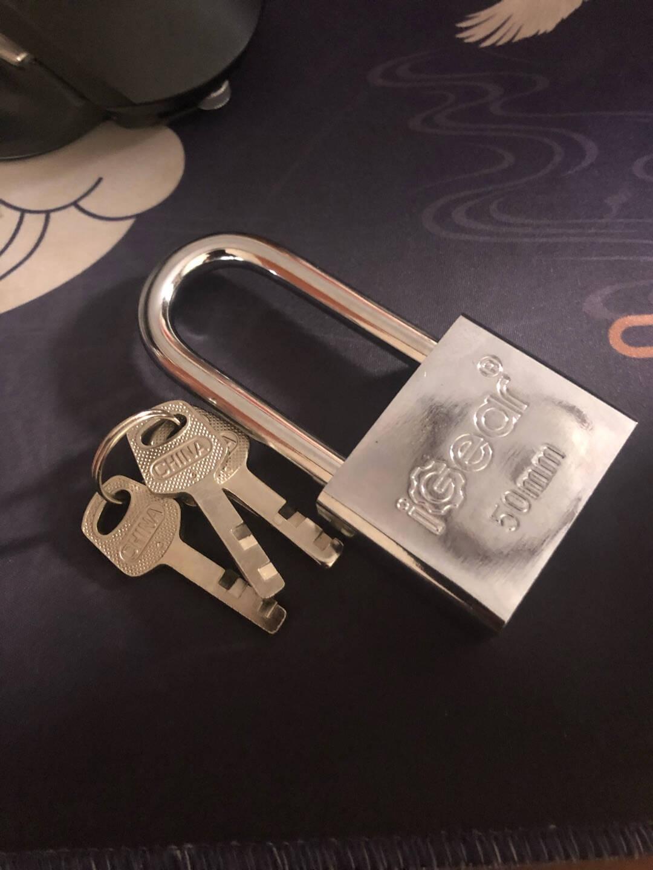 弘工加长链条锁防剪防盗车锁自行车锁加粗铁链子门锁(6mm)1米+防盗挂锁定制