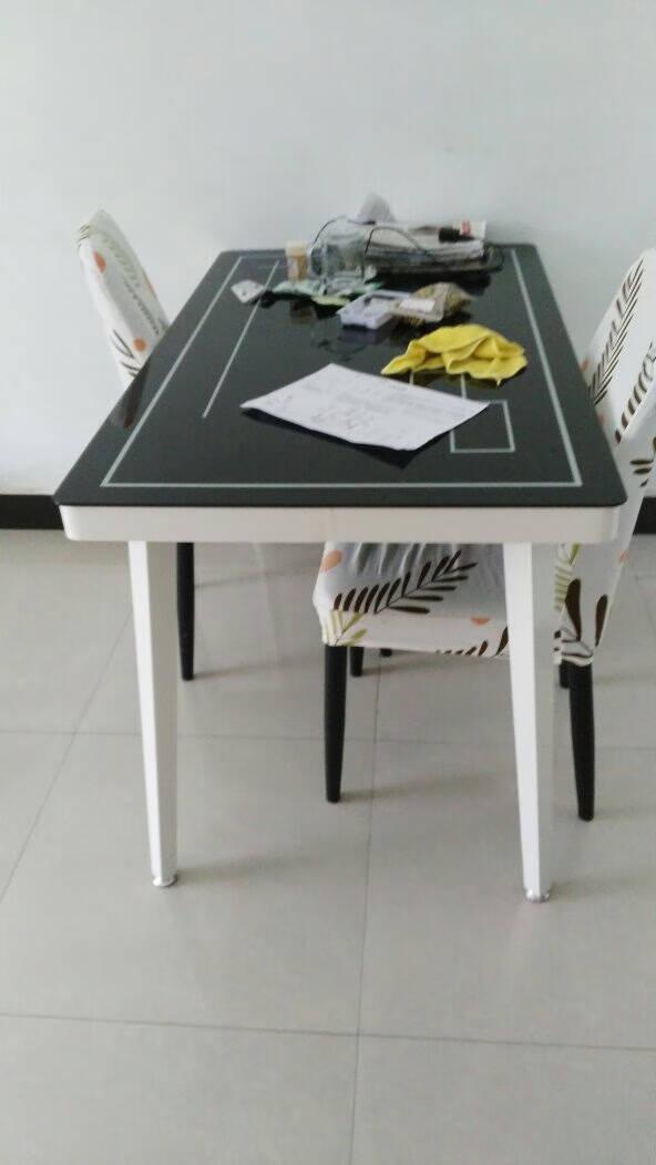 凡社餐椅家用防水PU皮革面餐桌椅组合简约靠背椅餐厅椅子两把黄色FYY2-2