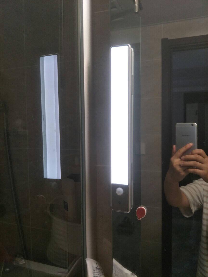 【两件九折】EZVALO·几光led超薄usb衣柜橱柜书桌玄关过道智能人体感应楼道免布线小夜灯30CMFlora(二代升级版白光)