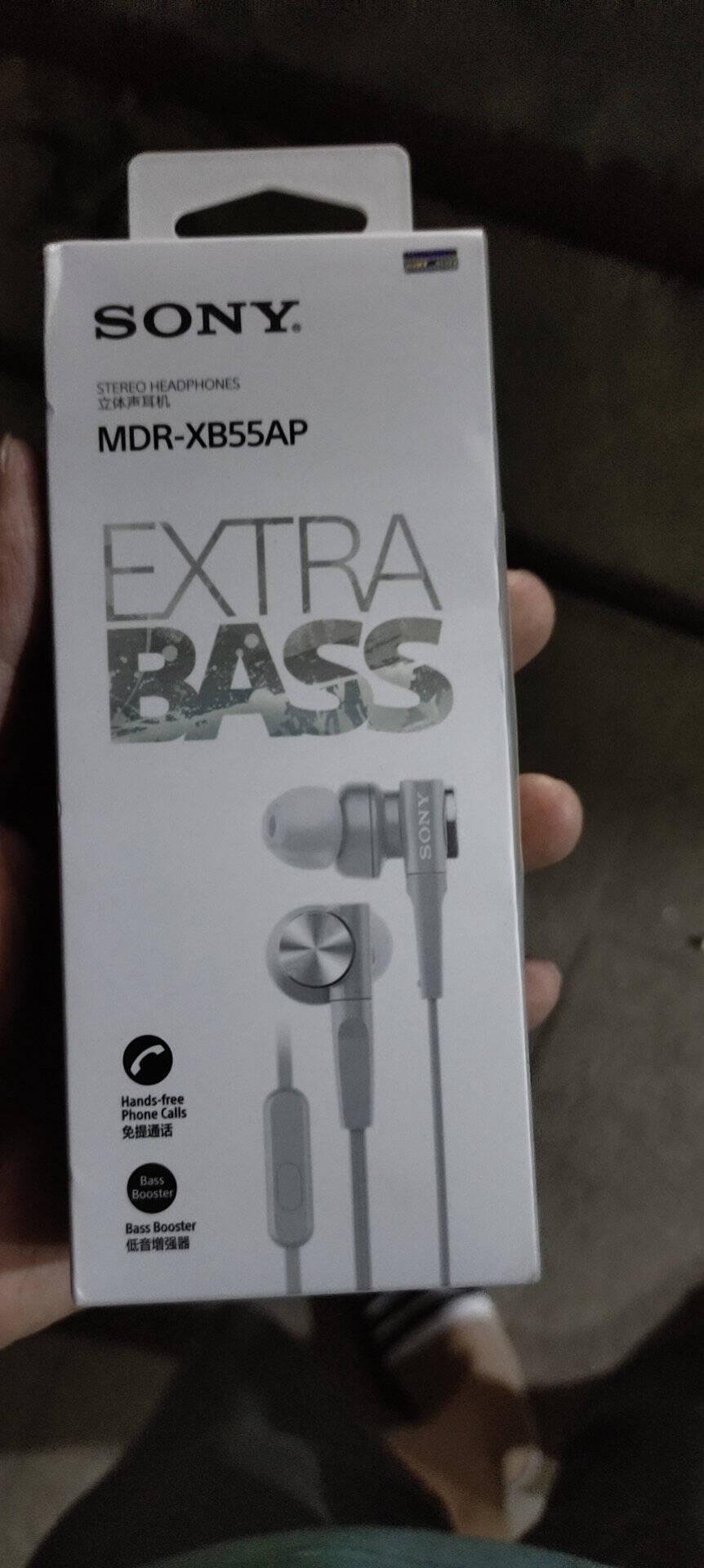 索尼(SONY)重低音立体声耳机MDR-XB55AP黑色