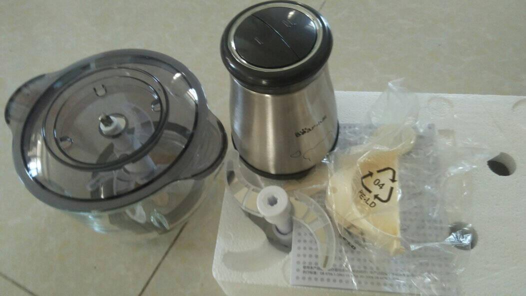小熊(Bear)绞肉机家用多功能电动料理机饺子绞馅机碎肉机辅食搅拌机搅肉打肉机蒜蓉切菜机QSJ-D03C12L