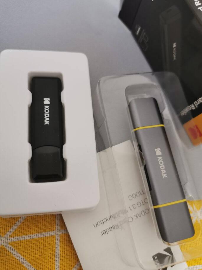 柯达KodakUSB3.0读卡器多功能合一高速读卡器SD/TF存储内存卡支持电脑车载电视音响等读卡T210A