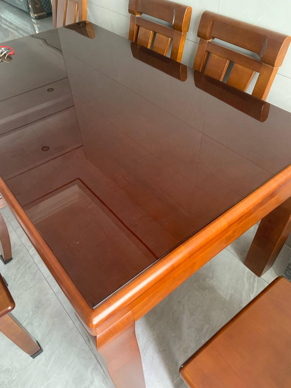 定制钢化玻璃长方形玻璃板茶几圆形桌面餐桌台面订做鋼化超清白玻璃