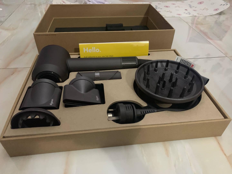 戴森(DYSON)SupersonicHD03智能电吹风吹风机风筒紫红色新增柔和风嘴