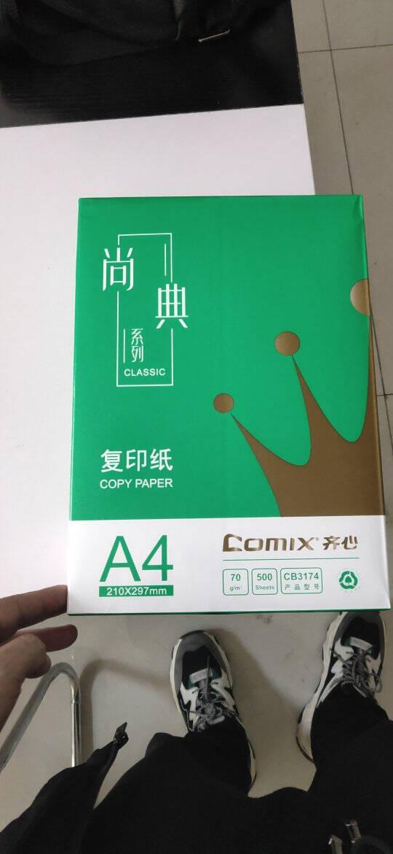 齐心(Comix)尚典70gA4复印纸500张/包8包/箱(4000张)CB3174-8