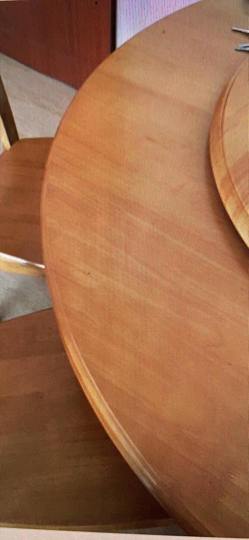 中巢实木圆桌餐桌椅组合带转盘圆台实木餐桌椅套装现代中式餐厅圆形餐台8人10人12人15人酒店胡桃色1.2m单桌+0.8m转盘