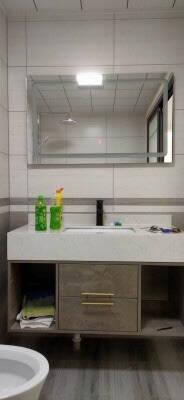 熠逹洗手台盆柜组合智能浴室柜实木洗脸池洗手盆柜组合卫生间洗漱台镜柜洗脸盆洗脸台卫浴柜100cm-智能镜柜/一键除雾-数显功能-美颜镜灯
