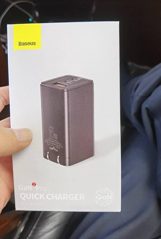 倍思氮化镓GaN二代65W充电器套装适用苹果iphone多口PD快充华为小米macbook笔记本适配器含100W数据线黑