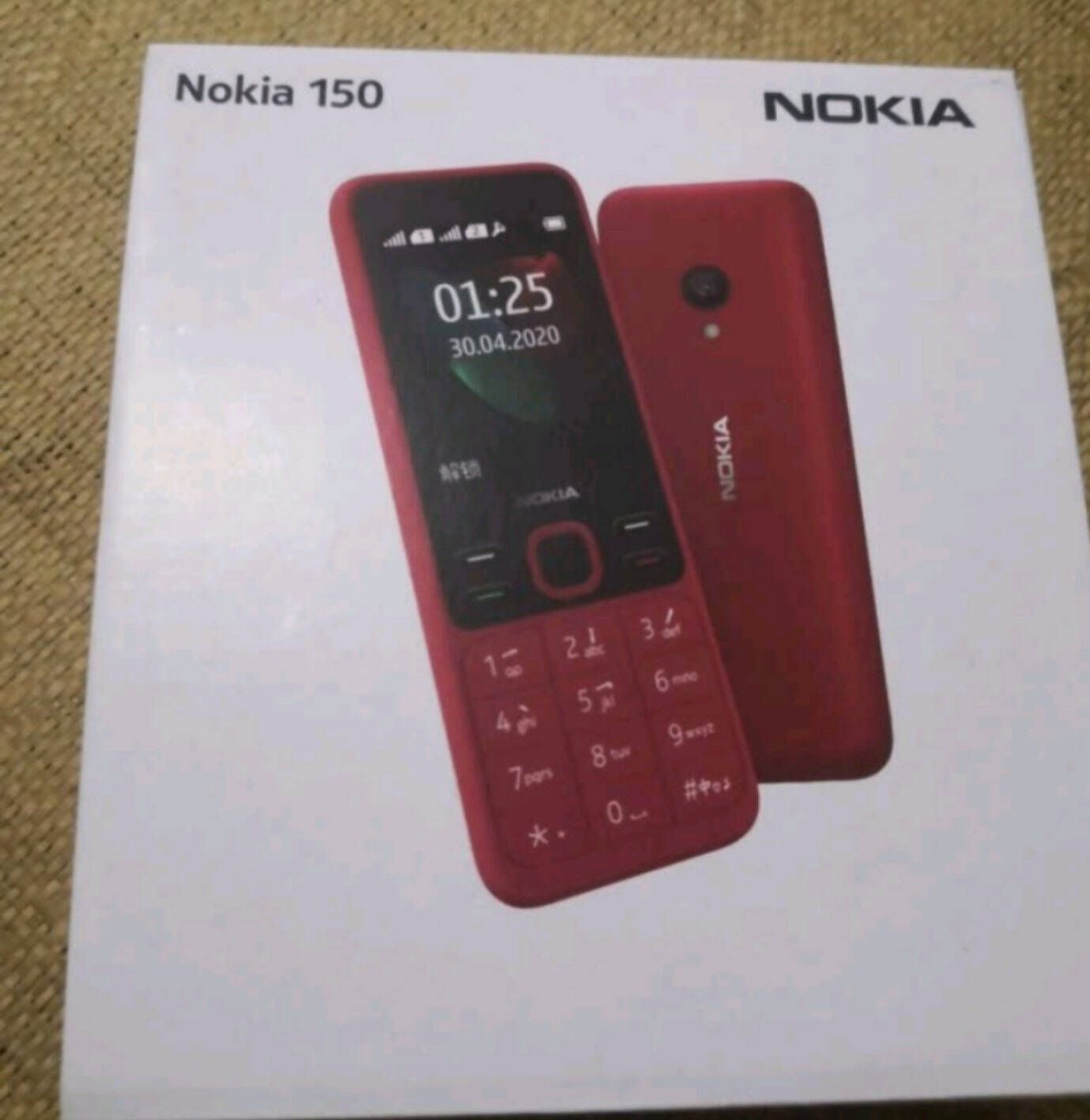 诺基亚NOKIA新150红色直板按键移动2G手机双卡双待老人老年手机学生备用功能机超长待机