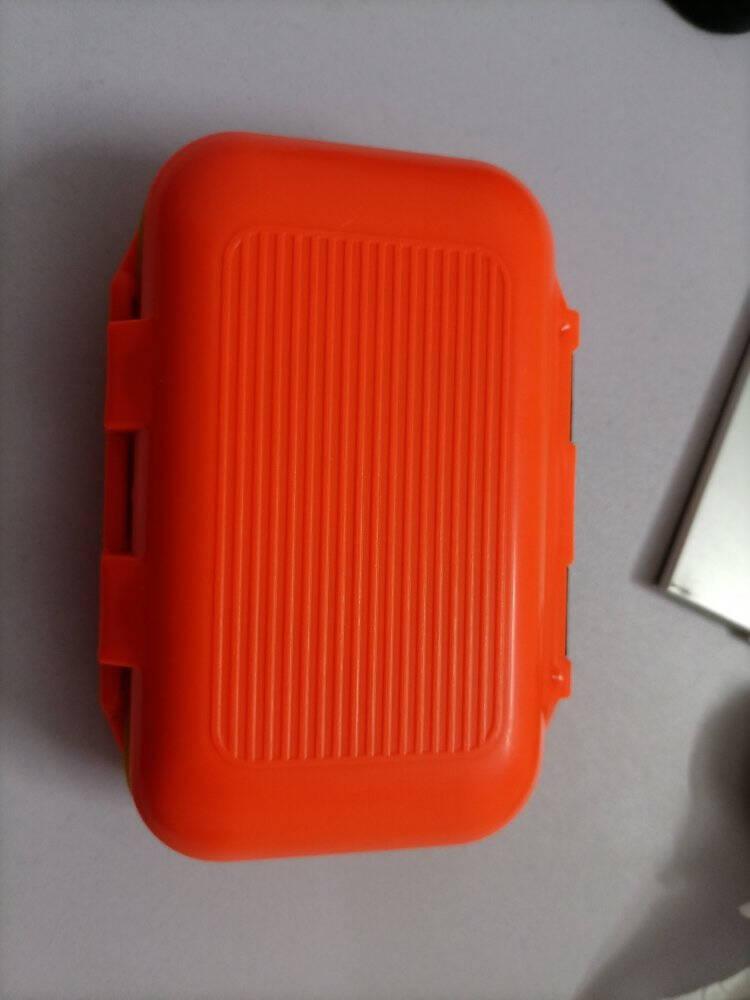 佳钓尼(JIADIAONI)渔具配件盒多功能鱼钩漂座铅皮收纳盒防水路亚盒配件盒小号