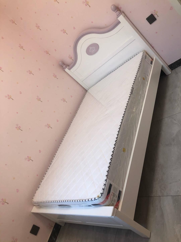 童友儿童床女孩单人床北欧风格实木高箱床1.5米儿童公主床1.2M青少年床实木单床1200*2000