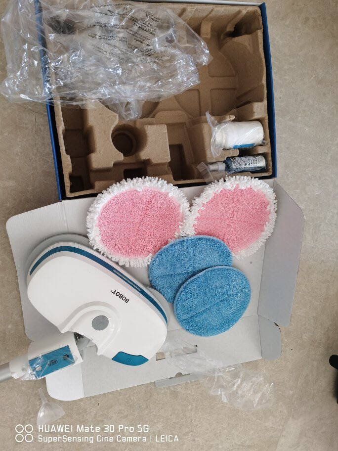 BOBOT电动拖把手持家用无线全自动智能擦地神器免手洗拖地清洁机MOP8600