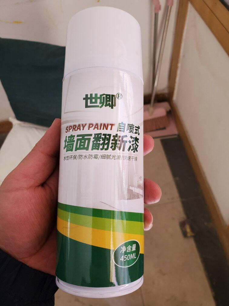 世卿自喷漆墙面自喷漆水性环保翻新漆自家用墙面修复漆内墙乳胶漆自喷式修复漆自喷漆450ml
