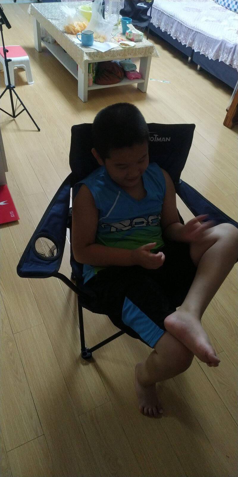 沃特曼Whotman户外折叠椅扶手椅靠背椅简易钓鱼椅沙滩椅家用休闲椅子便携式写生椅WY3137