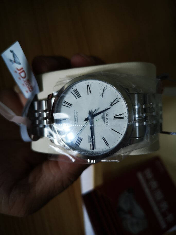浪琴(Longines)瑞士手表开创者系列机械钢带男表情侣对表L28214116